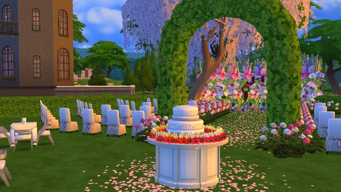 Sims  Park Wedding Cake