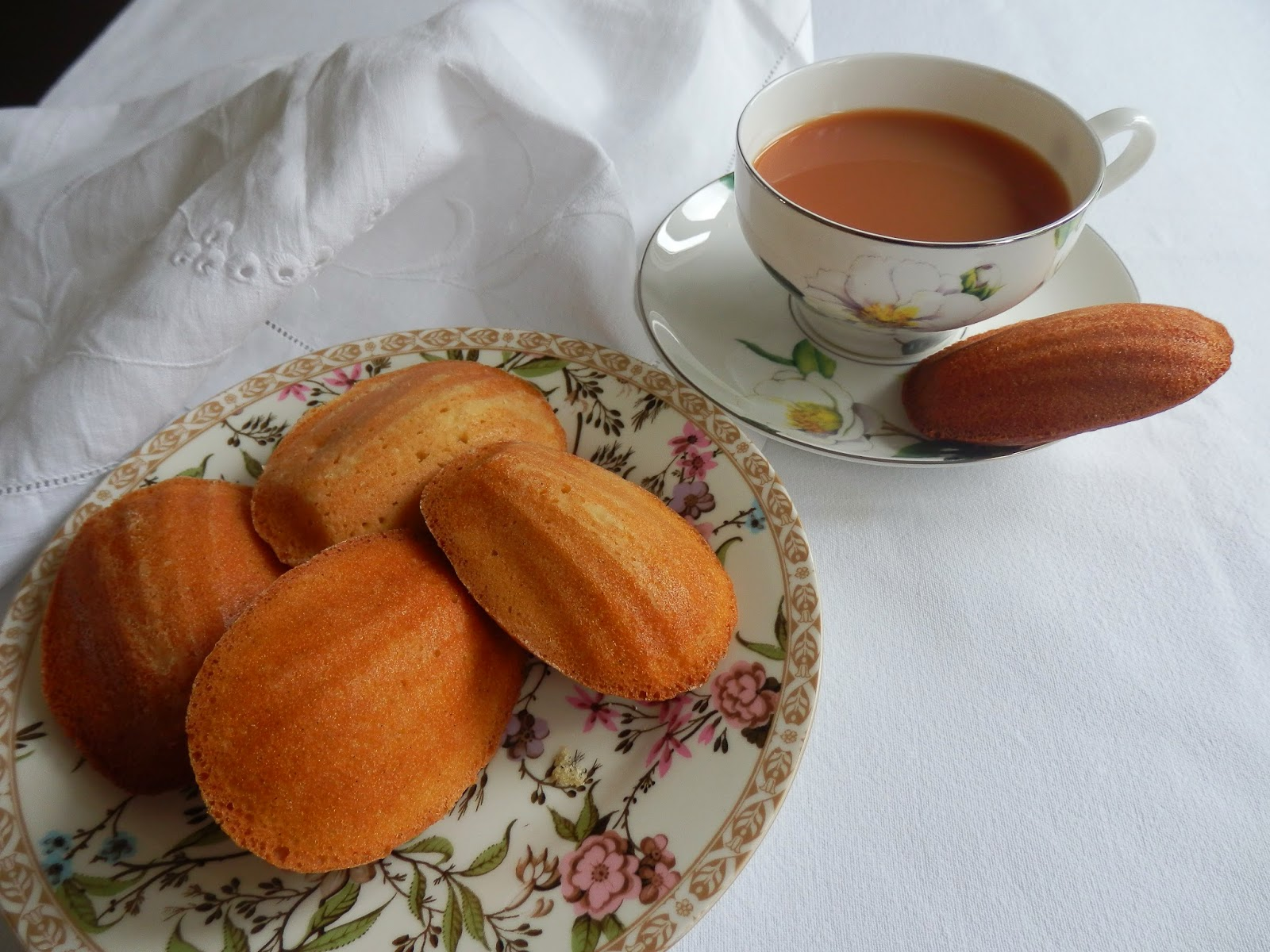 Orange and lemon madeleines