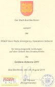 Certificado recebido em Bad Bentheim  Germany