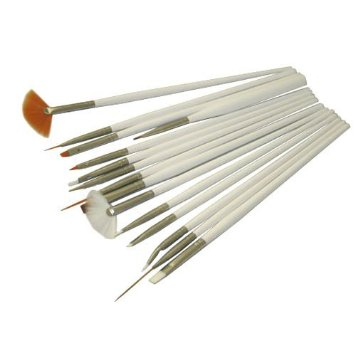 use for your natural or false nails 15 pcs nail art pens brush for