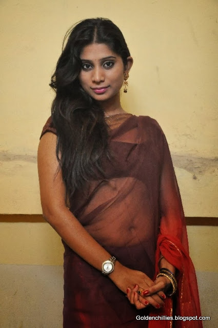 mithuna waliya navel show in saree