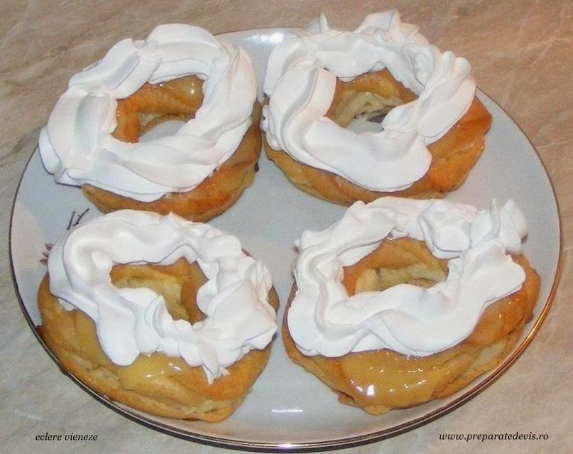ecler vienez, eclere, ecler, retete eclere, eclere reteta, eclere de casa, prajituri, prajituri delicioase, ecler vienez cu frisca, eclere cu crema de vanilie si frisca, retete culinare, dulciuri,