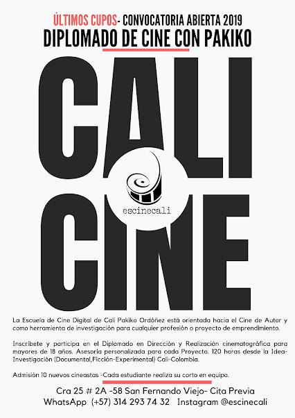 CALI. Patrimonio del Cine de Autor en Colombia. Escuela de Cine PakikOrdóñez.