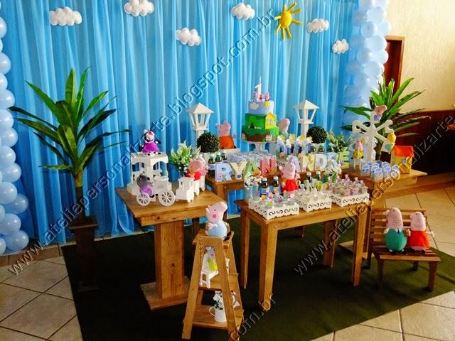 Decoração festa infantil Peppa Pig Porto Alegre