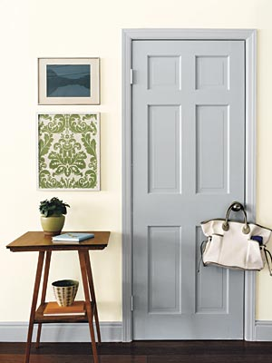 The design pages painting interior doors for Interior trim and door color ideas