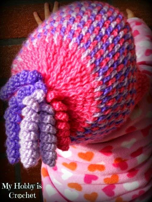 My Hobby Is Crochet Gumdrops Earflap Hat Free Crochet Pattern