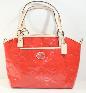 Coach PEYTON EMBOSSED PATENT POCKET TOTE Value $398