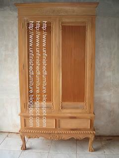 furniture klasik almari hias klasik chippendale glass cabinet mahoni supplier furniture klasik jepara almari hias ukir chippendale mentah unfinished