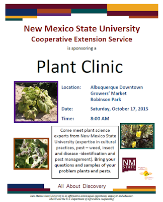 Advertising flyer for the Downtown Growers' Market Plant Clinic
