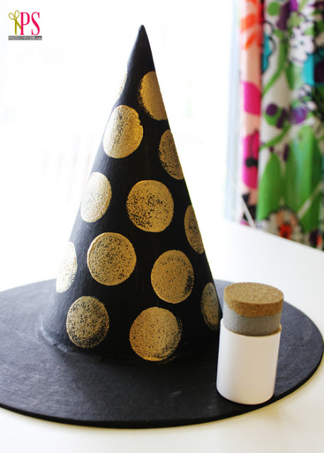 embellished+paper+mache+witch+hat+tutorial+2