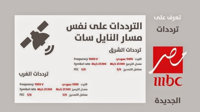 تردد قناة ام بي سي مصر الجديد MBC MASR علي النايل سات 2014