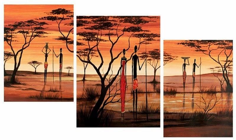 cuadros-africanos-tripticos