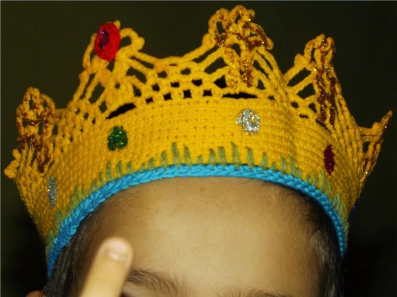 Corona de crochet o ganchillo