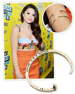 Selena Gomez's Bracelet Cuffs