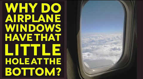Interesting Engineering: Why do air planes have that little hole at the bottom of the window, flight window hole reason