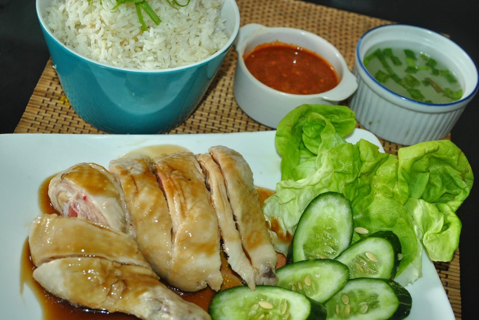 Patyskitchen Steam Chicken Rice The Hainanese Style Bumbu Nasi Hainan Veggie Way Hainam Vegan Saturday September 20 2014