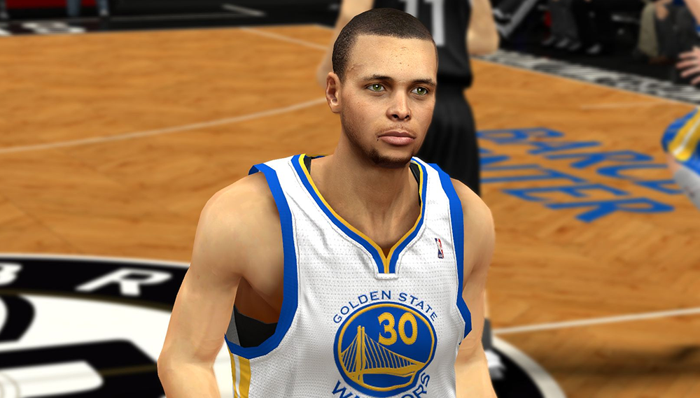 NBA 2K14 Stephen Curry Face Patch