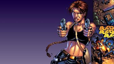 Lara Croft Comic Wallpaper