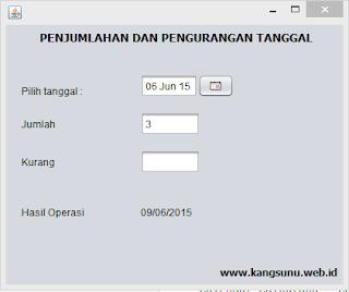 Menambahkan dan Mengurangi Tanggal di Java dengan Hitungan Hari