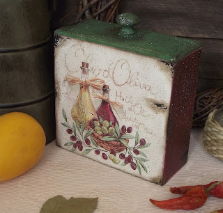 короб для кухни с оливками