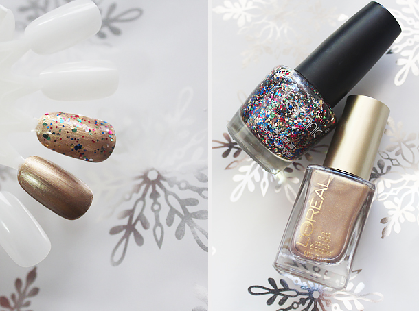 holiday nail polish glitter top coats combination china glaze