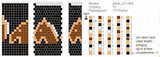 Схема для жгута из бисера. Описание схемы