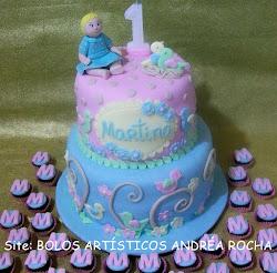 Bolo Passaros Aniversário Martina