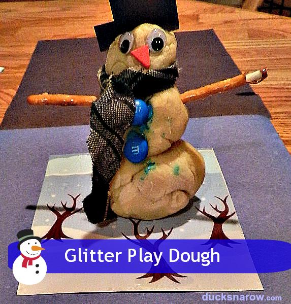 snowman, snowman craft, DIY play dough, glitter play dough, preschool craft