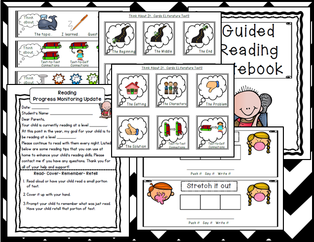 http://www.teacherspayteachers.com/Product/Guided-Reading-Printables-Melonheadz-style-938350