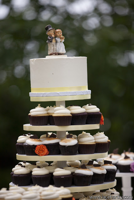 Minneapolis Wedding Cupcake Tower and Cake Topper