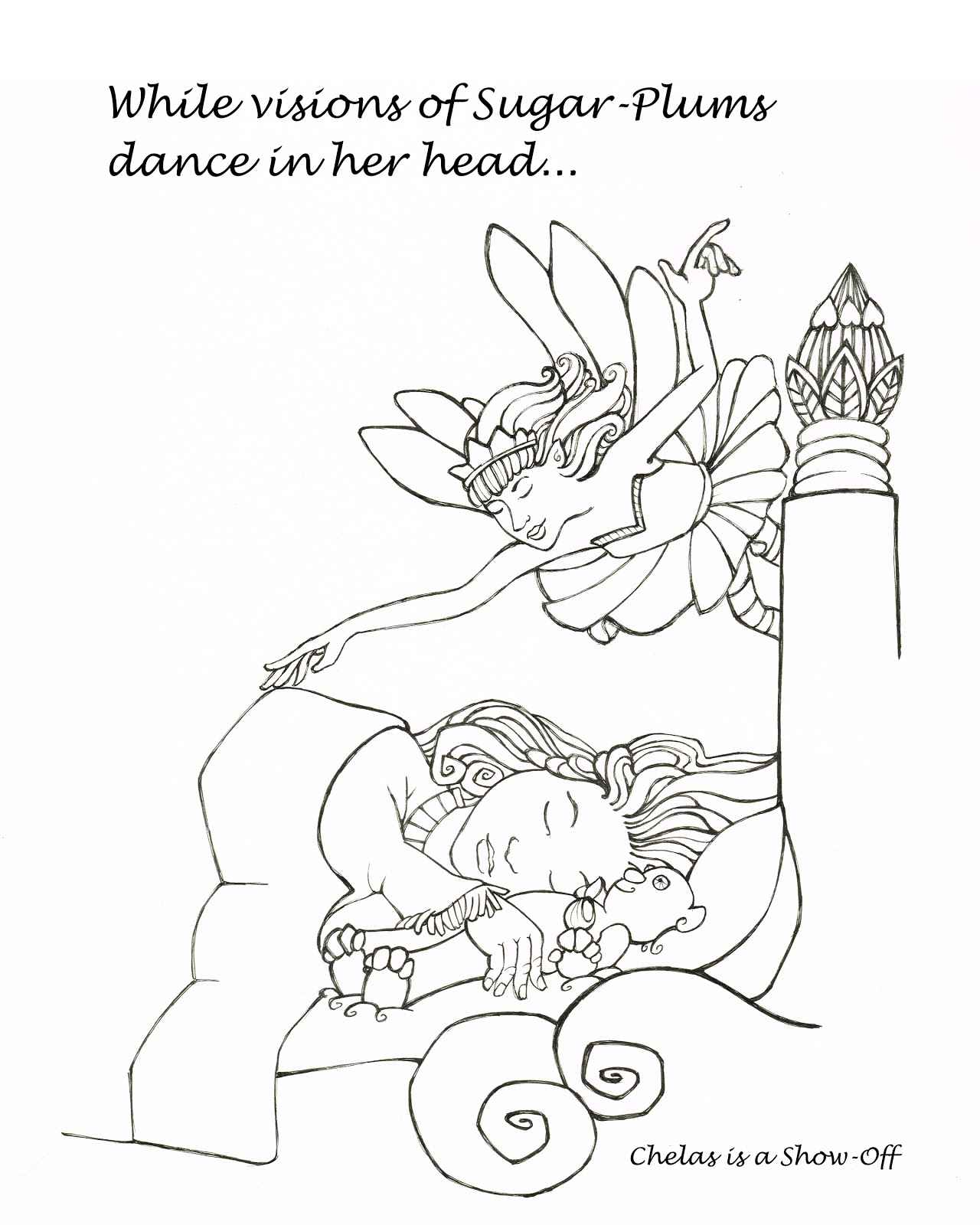 sugar plum fairies coloring pages - photo#24