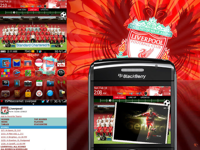 Liverpool FC Theme for Blackberry
