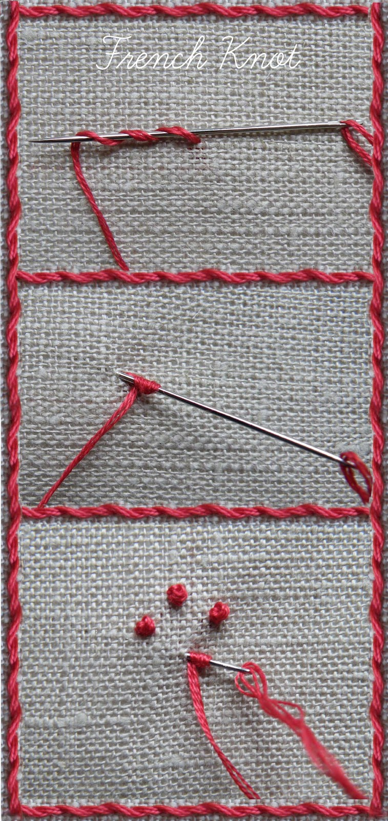 NANCY NICHOLSON Tutorial For Whipped Running Stitch And