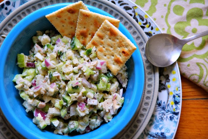 Green Apple Cucumber Tuna Salad