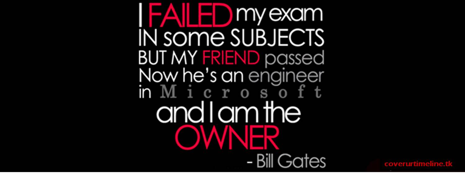 Bill Gates Quote - FB Cover Image