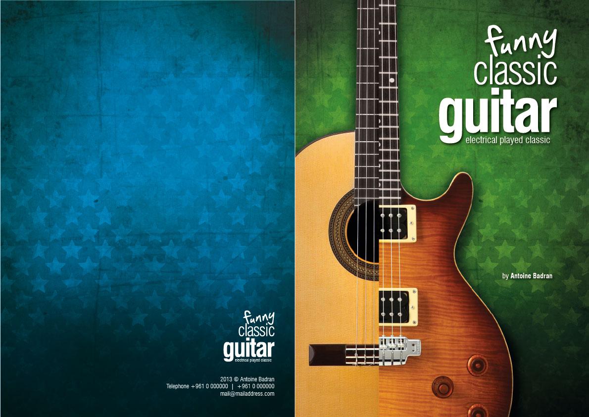 Classic Book Cover Guitar ~ Antoine badran funny classic guitar music book cover