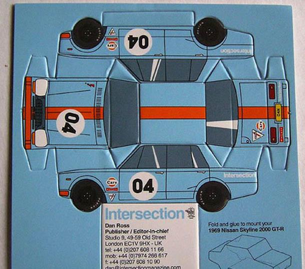 cartões de visita criativos - Intersection Magazine