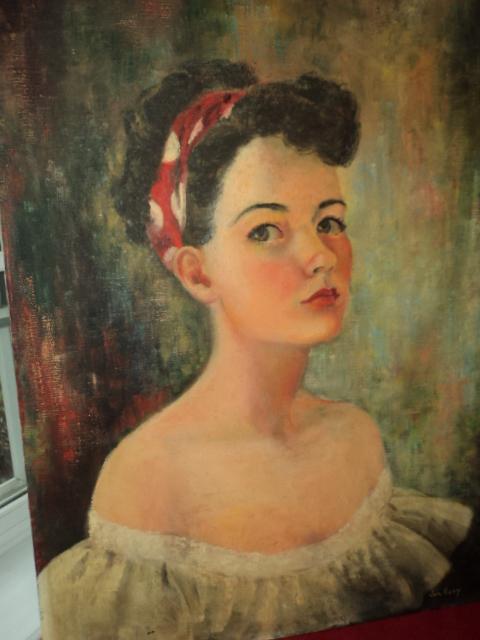 more vintage portrait paintings i found antique art garden
