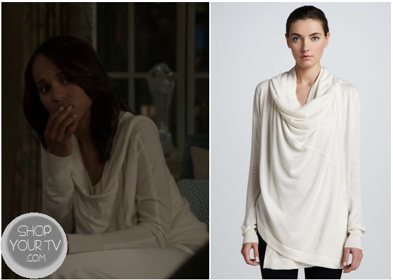 Shop Your TV: Scandal: Season 2 Episode 20 Olivia's Cowl Neck Sweater
