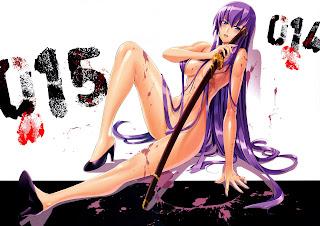 Highschool of the Dead Saeko Busujima Anime Sexy Girl Hot Samurai Sword HD Wallpaper Desktop Background
