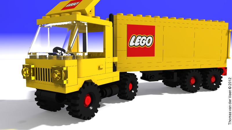 Lego Tractor Trailer : Lego povray tractor trailer