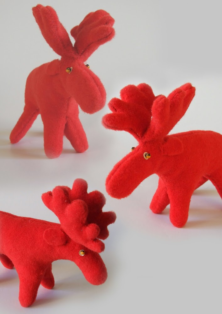 Red moose toy
