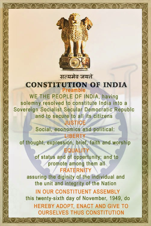 Indian Constitution Chart of The Indian Constitution