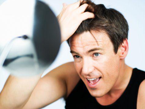 I capelli abbandonano su una dieta