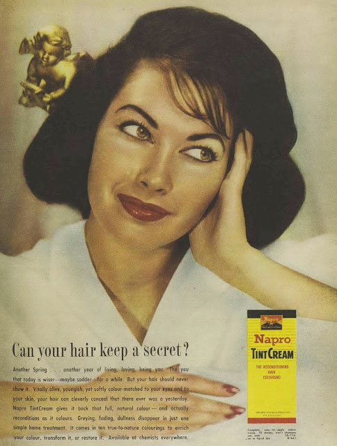 Napro tint cream, vintage ad from 1960