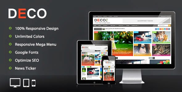 Deco Mag – Responsive Magazine Blogger Template Didownload Link