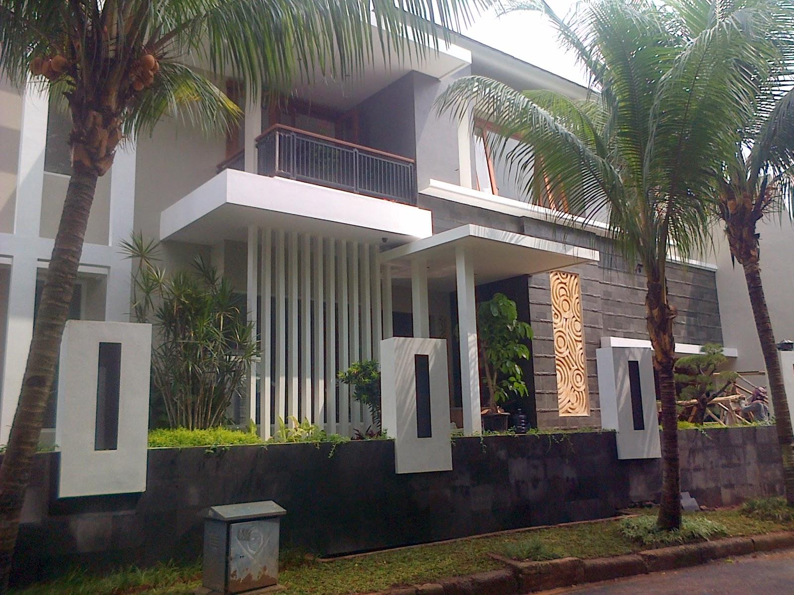 Rumah tropis minimalis kalibata Desain aditya wijaya