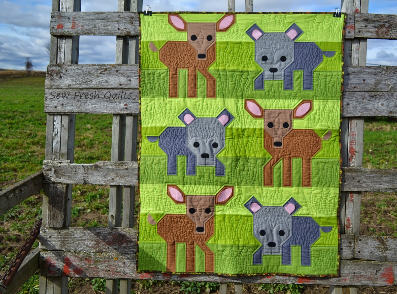 Sew Fresh Quilts Wild Life Friday It Up Finish