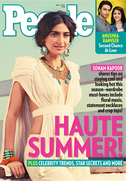 Actress Sonam Kapoor on the cover of People magazine
