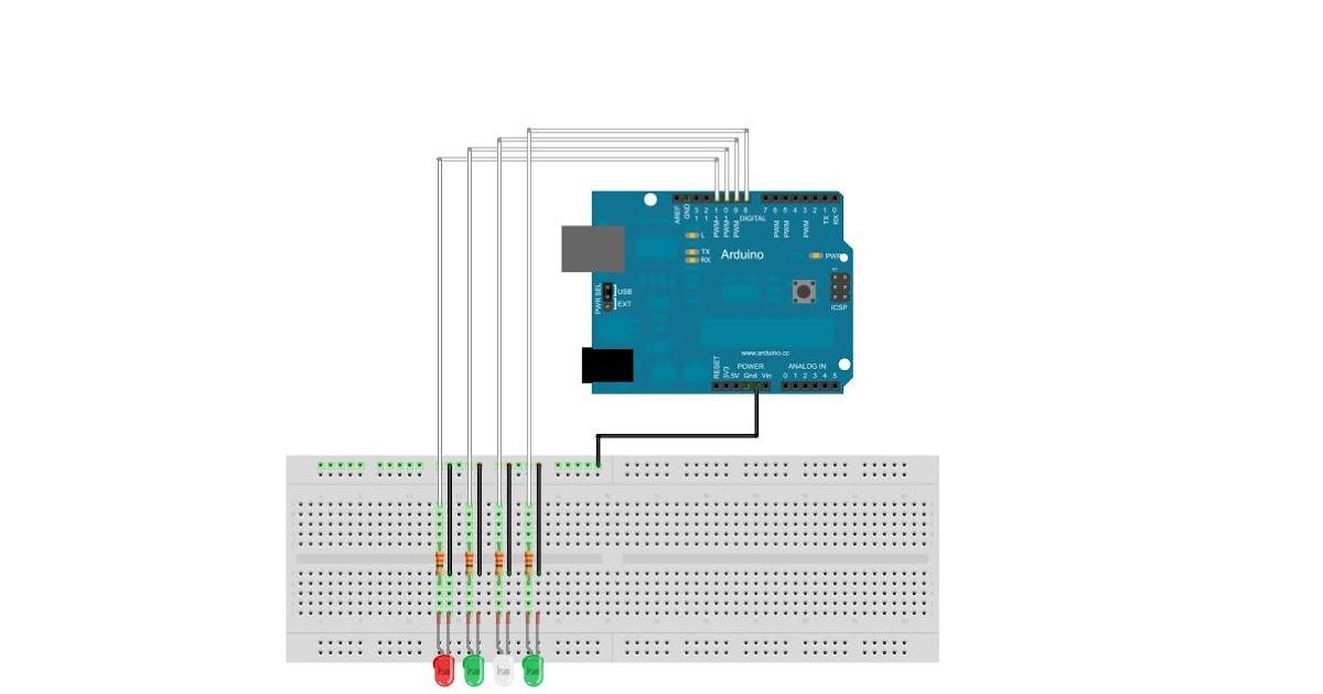 Arduino keyboard controlled leds